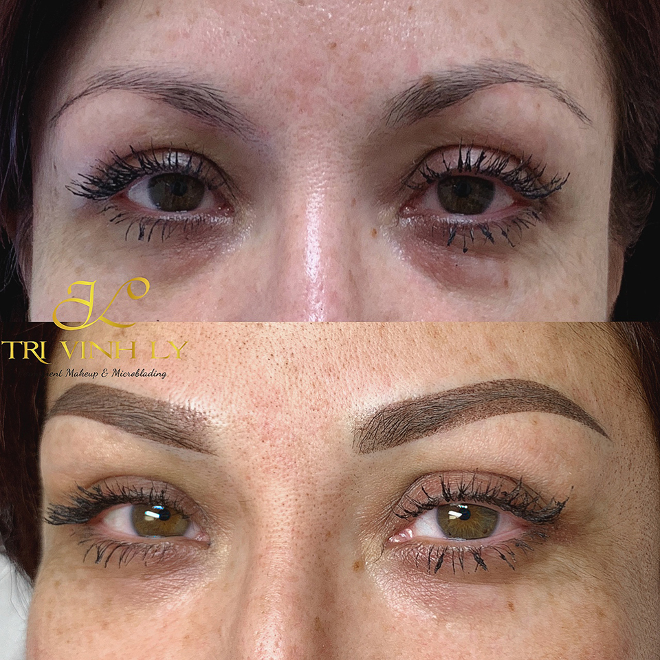 Sharp Ombré shading eyebrows by TriVinhLy - TVL PMU -(ATSP)